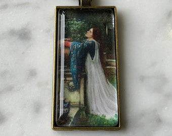 ISABELLA AND THE POT OF BASIL  ART GLASS  PENDANT
