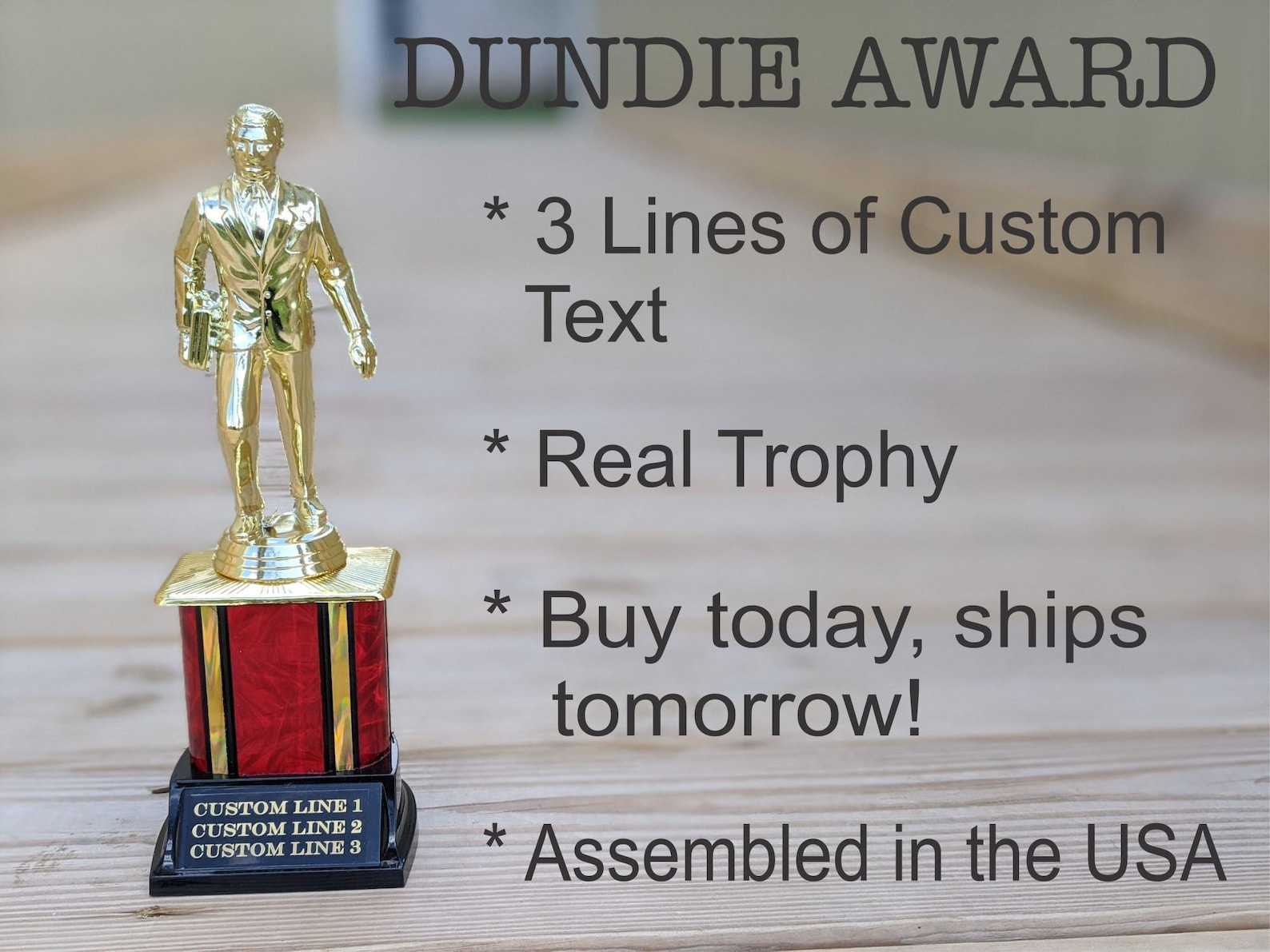 Personalized Dundie Trophy
