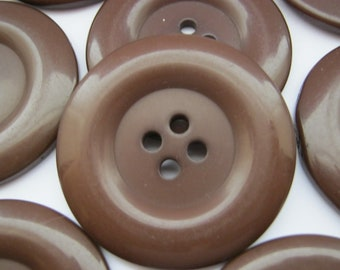 50s Vintage Big Concave /'Shell Inlaid/' Brown Coat Jacket Dress Replacement Buttons-37mm