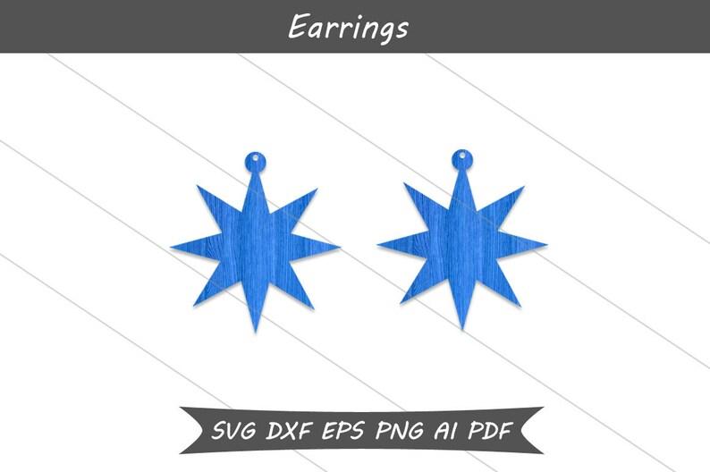 Christmas star earrings svg,Christmas earrings,Dangle earrings,Svg cut files,Cameo files,Cricut files,Drop earrings,Christmas jewelry svg