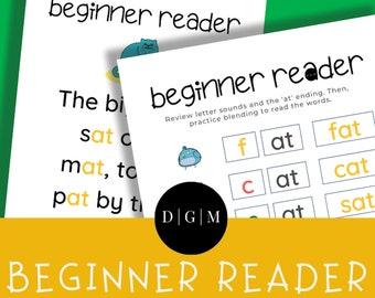 Reading Short A CVC Words: -AT Ending   Printable Activity Bundle   Kid Activity   Preschool   Kindergarten   Homeschool Activity