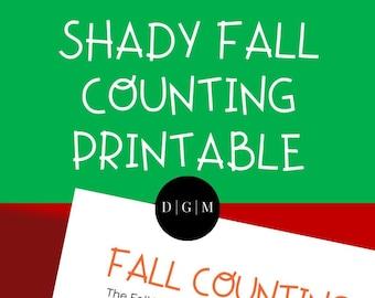 Autumn Fall   Preschool Printable Activity   Counting   Coloring   Homeschool Worksheet