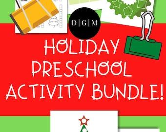 Holiday Early Learning Printable Bundle