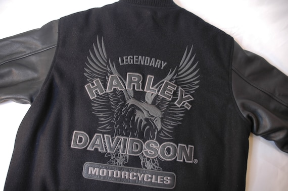 leather and suede embroidered Harley Davidson Lett