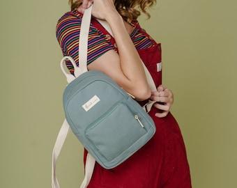 Vanie Canvas Backpack, Mini Backpack for Women, Teens gift, Birthday gift, Travel backpack, Weekend backpack, Gift for Her, Anniversary gift