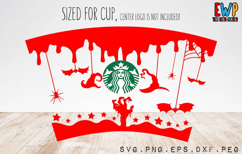 Full Wrap Halloween Starbuck Cup SVG  DIY Venti Cup 24 Oz image 0