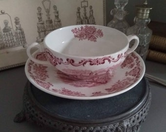Dessertschale D 13 cm H 3,3 cm Enoch Wedgwood Royal Homes of Britain Red