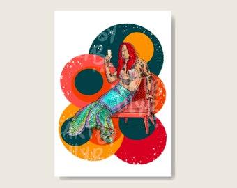 glossy photo paper 6x4\u201d HS Illustration Print