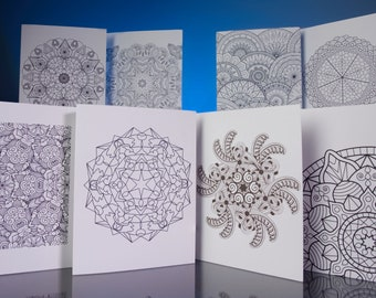 """Stationery Set: 5""""x6.5"""" Bright White Coloring Note Cards with White Envelopes. VOL.2"""