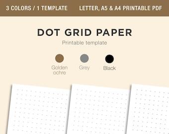 DOT GRID Paper Printable, Bullet Journal Dot Grid Paper, Dot Grid Paper, Calligraphy Dot Grid Paper, 5mm Square Dot Grid, A4 A5 Letter PDF