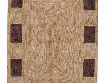 Rug,Indian Boho Rug,Eco Friendly Rugs. 2.5x20 Runner Wool Jute Custom Runner,Handwoven Navajo Kilim Carpets,Handmade Durry,Orientel