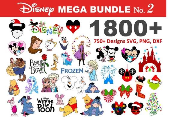 1800+ Disney SVG Mega Bundle