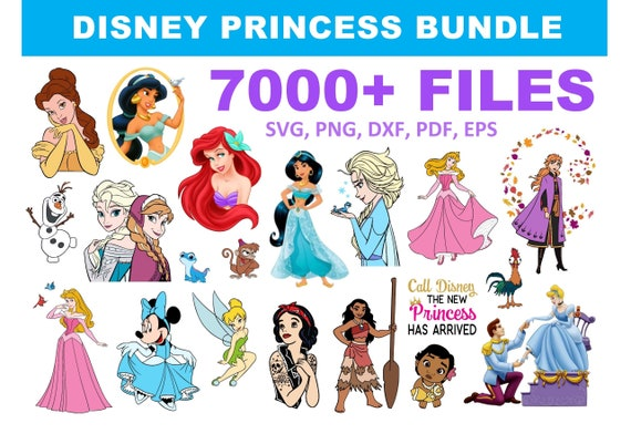 7000+ Disney Princess SVG Mega Bundle