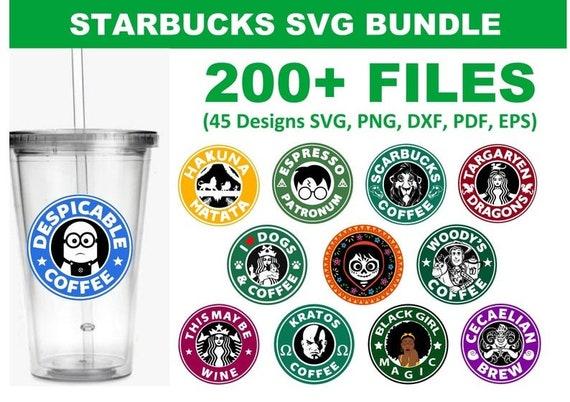 200+ Starbucks SVG Bundle