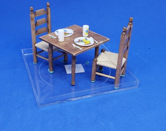Dollhouse Miniature 1/12 Scale Child's Table and Chairs Robert Chenaille