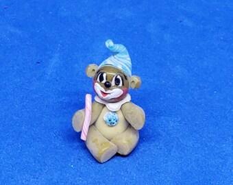 Dollhouse Miniature 1/12 Scale Bear Fimo