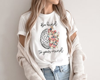 recovery tee boho shirt sunshine oh happy day therapy tee Women/'s graphic tees Mental health matters t-shirt