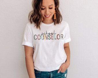 Summer Tops Proud School Counselor Gift American African Guidance T-Shirt,Gift Funny T Shirt Beach T Shirts