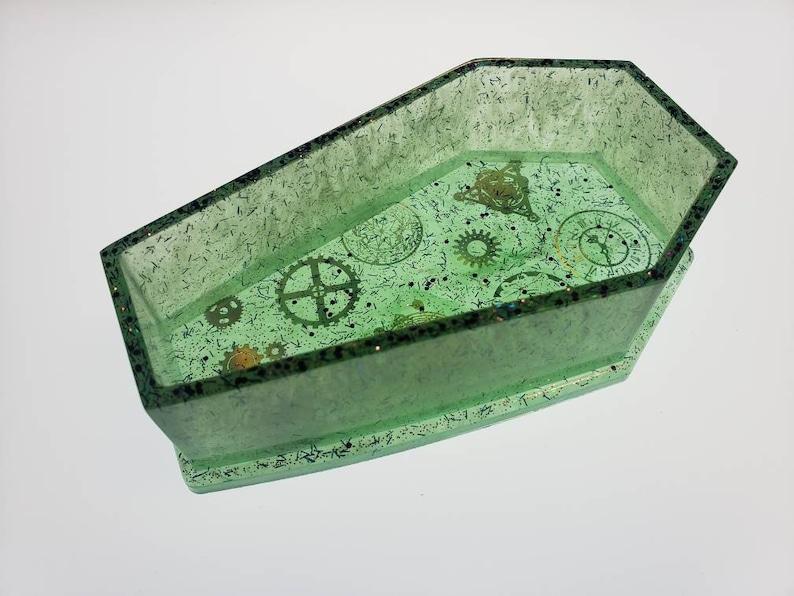 Green Steampunk coffin
