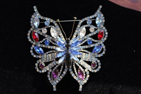 Weiss Vintage Butterfly Brooch - Huge!