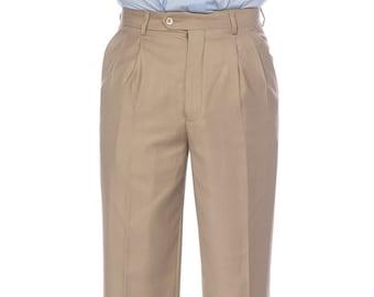 Mens Pleated Pants Etsy