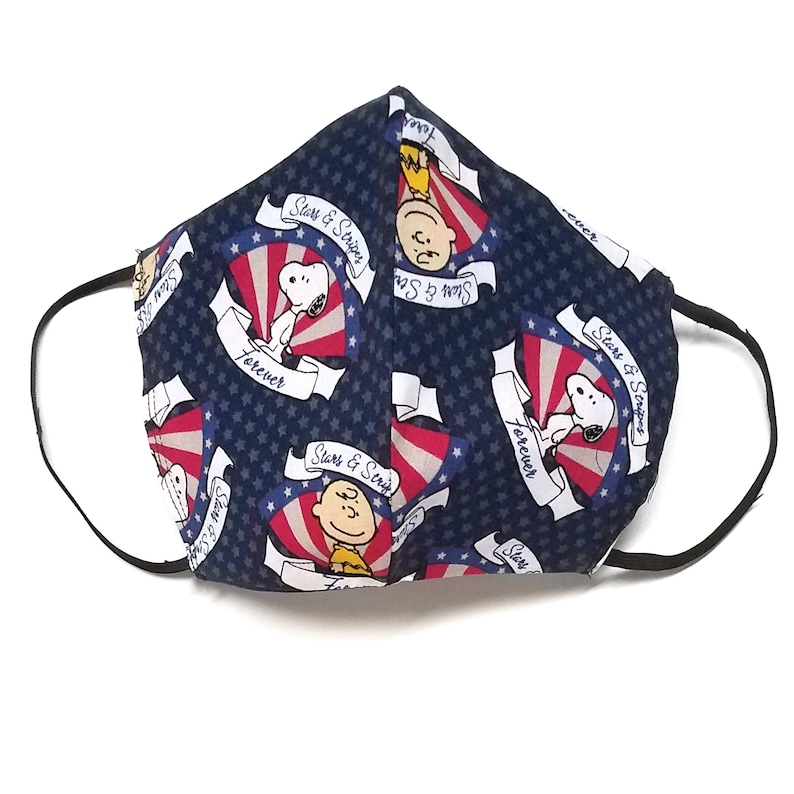 Peanuts Stars and Stripes Forever Print Cloth Face Mask with image 0