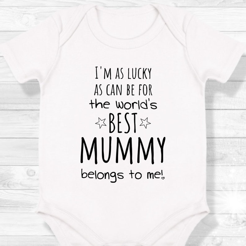 Worlds Best Mummy 1st Mothers Day Baby Onsie First Time Mum Baby grow personalised Vest Mother/'s Day Gift Happy Mothers Day Baby Grow