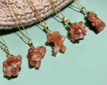 Raw Aragonite Crystal from Morocco Aragonite Gemstone Necklace Aragonite Crystal Necklace Raw Gemstone Necklace Healing Crystal Necklace