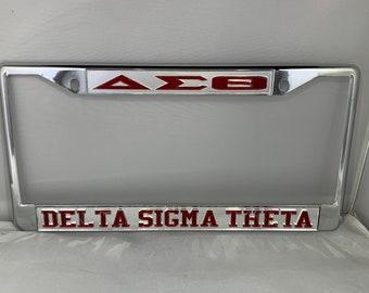 Delta Sigma Theta New Metal License Plate