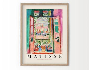 Henri Matisse The Open Window, Pink Art, Matisse Poster Exhibition, La Fenêtre ouverte à collioure, High Quality Print, Large Sizes