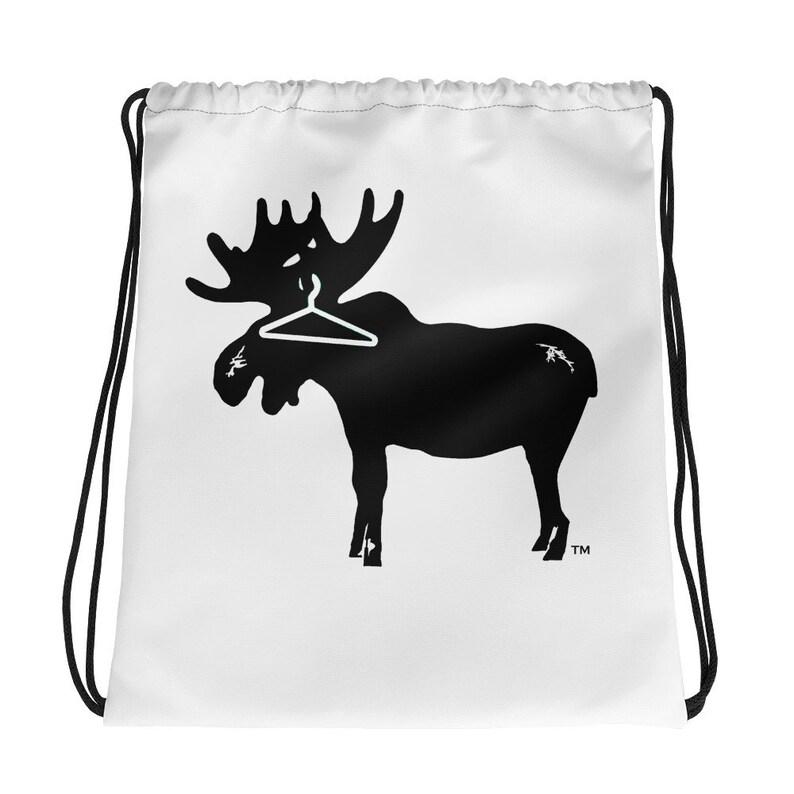 Tidy Moose Drawstring bag