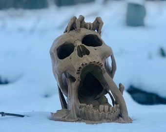 Desert Kiss Dice Tower (Ars Moriendi) - Skull Themed Dice Tower for D&D, Pathfinder, Fate, Savage Worlds, RPGs and Board Games