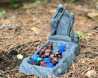 Graveyard Dice Tray - Graveyard Themed Dice Tray by Ars Moriendi (D&D, 5e, Pathfinder, RPG, Dice)