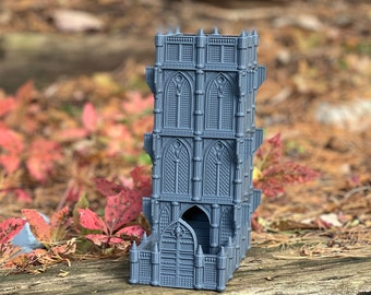 Cathedral Dice Tower - Dice Tower for Tabletop Minis, RPG & Board Games Like Dungeons and Dragons, Warhammer 40k, Call of Cthulhu, Mork Borg