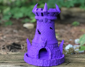 Fighter Dice Tower (Fates End) - Fighter Class Themed Dice Tower for D&D, Pathfinder, Fate, Savage Worlds, RPGs and Board Games