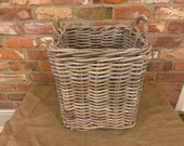 Premium Quality Square Rattan Log Basket