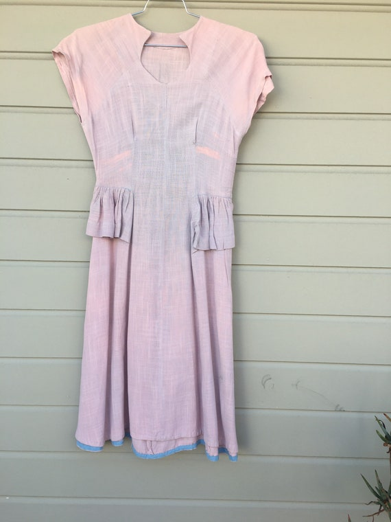 Beautifully weathered 1930s linen dress.
