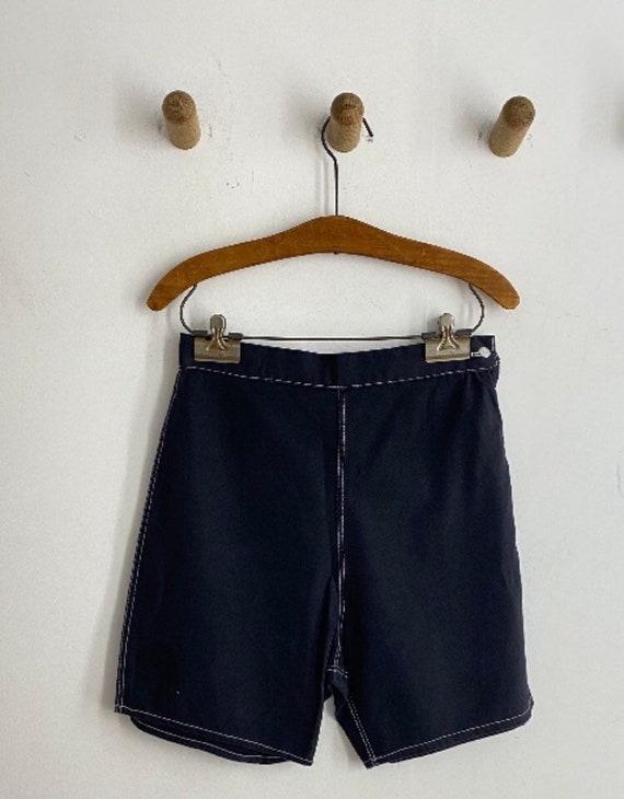 1950s ink black side zip shorts.