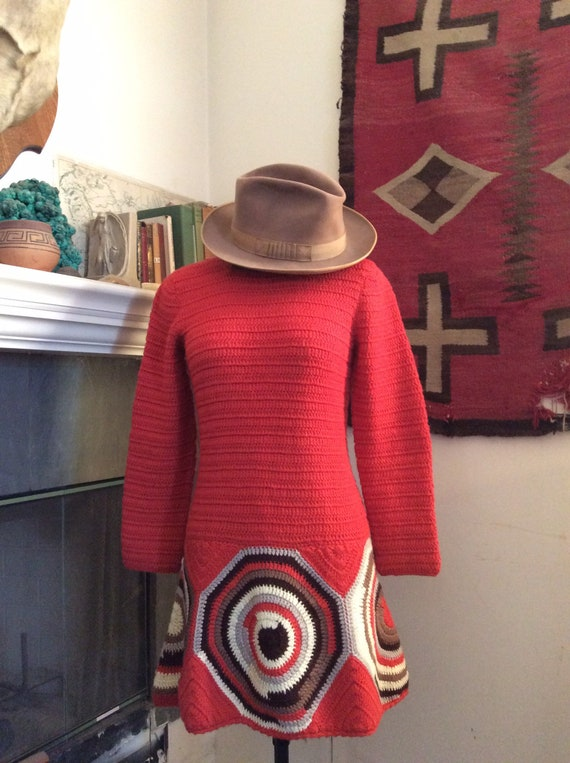 1960s knit mini dress.