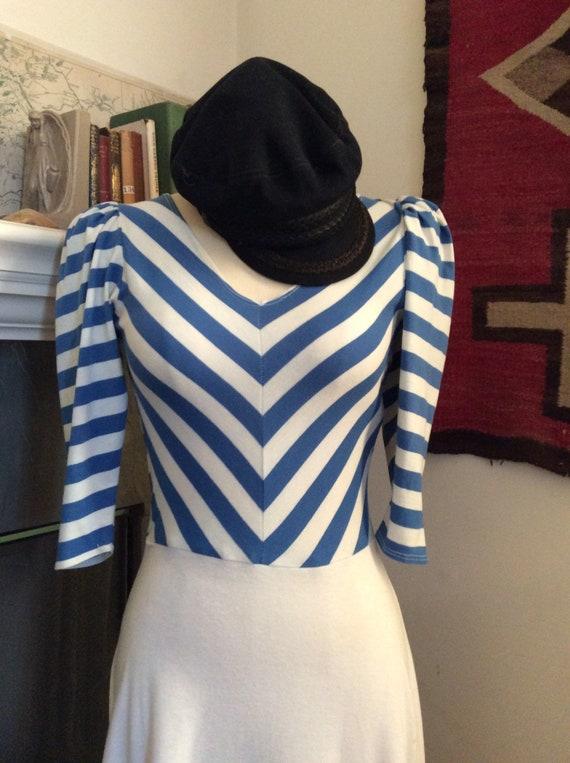 1980s striped sun dress.