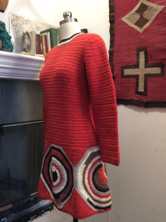 1960s knit mini dress. - image 2