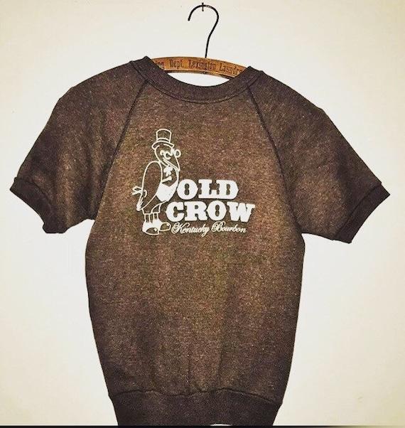 70s Old Crow Kentucky Bourbon sweatshirt.