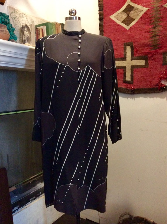 Chic Hanae Morí silk dress.