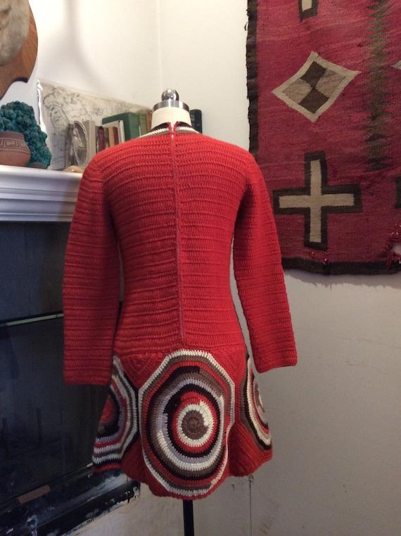 1960s knit mini dress. - image 3