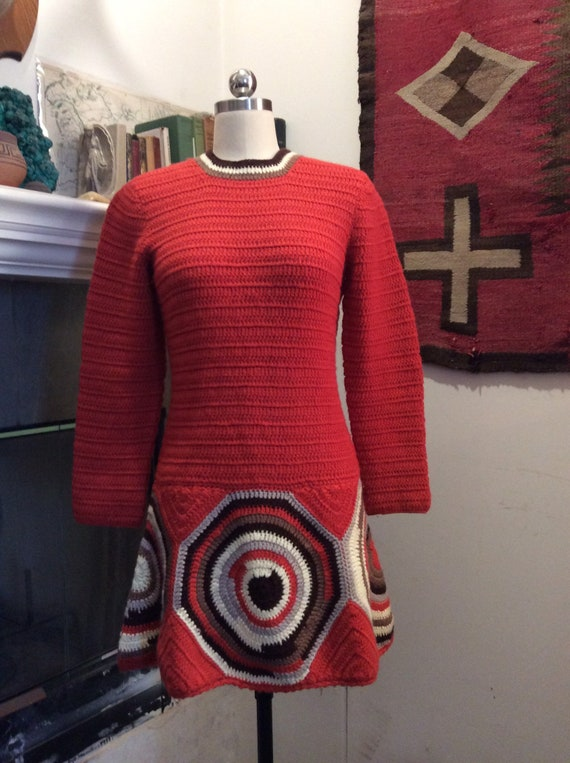 1960s knit mini dress. - image 4