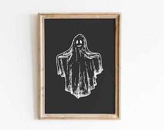 Halloween Print / Halloween Print Wall Art / Ghost Print / Spooky Prints / Halloween Decor / Halloween Printables / Ghost Wall Art
