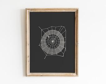 Halloween Print / Halloween Print Wall Art / Spider Web Print / Ghost Print / Spooky Prints / Halloween Decor / Halloween Printables
