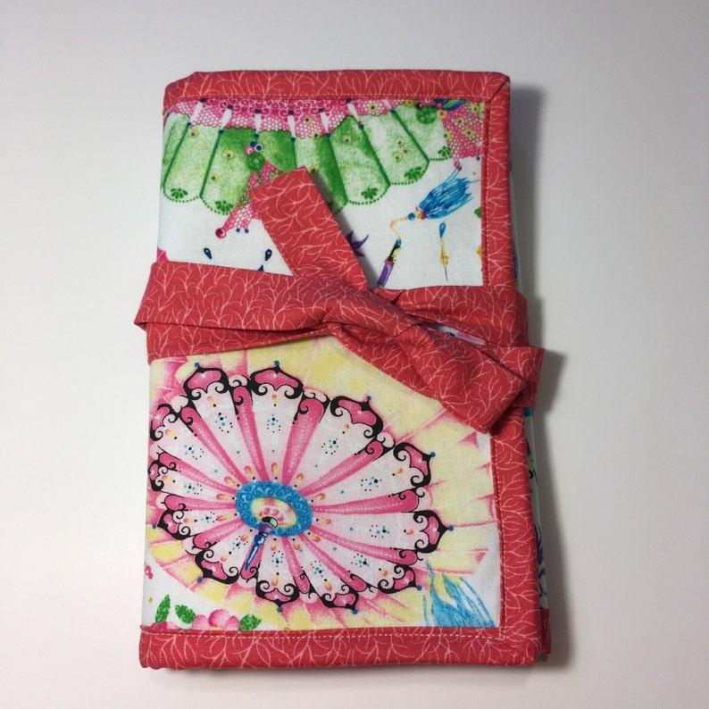 Crochet Crafters Gift Fabric Travel Bag Crochet Hook Holder Crochet Storage Project Bag Crochet Hook Organizer Crochet Needle Case