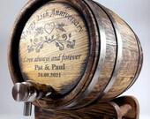 Whiskey Barrel 1-2-3-5-10-15L, Anniversary Gift, Wooden Wedding Whisky-Wine-Rum Barrel, Bourbon Cask Gift for Men Him Dad Husband Oak Keg