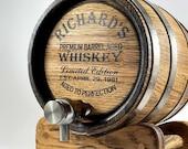 Personalized Whiskey Barrel 1-2-3-5-10-15L, Whisky-Wine-Rum Barrel Wooden Bourbon Barrel Gift for Men Him Dad Husband Rum lover Oak Cask Keg